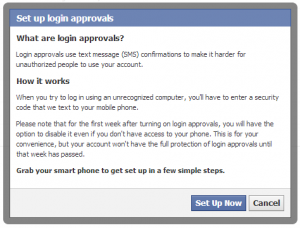 Facebook login approval security setting explained