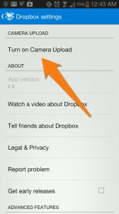DropBox Camera Upload feature