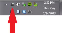 Virtual CloneDrive icon in taskbar