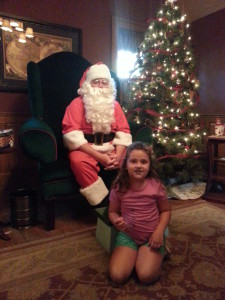 Brenna hanging out with Santa