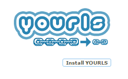 YOURLS link shortening service install page